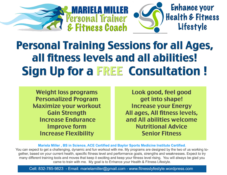 Personal Training Summer Specials In Houston Mariela Miller